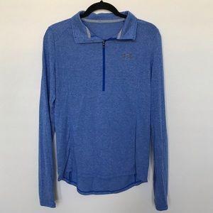Under Armour Threadborne 1/4 Zip Blue Long Sleeve